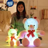 Colorful Led Teddy Bear Plush Toy Pillow Flashing Luminous Dolls Bear For Girls Gift