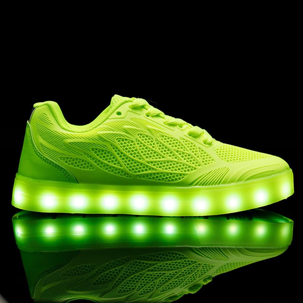 2017 Nouveau Led Lumineux Chaussures Avec La Lumière, Unisexe Simulation Unique superstar Led chaussures mâle, Hommes Light Up Led rougeoyant Chaussures ...