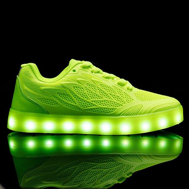 2017 Nouveau Led Lumineux Chaussures Avec La Lumière, Unisexe Simulation Unique superstar Led chaussures mâle