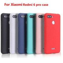 Xindiman silicone TPU cover for xiaomi redmi6pro case matte plain solid color fundas Redmi6 soft capa redmi6