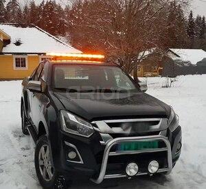 "Image 5 - 47"" COB LED Car Roof Flashing Strobe Emergency Light Bar DC 12V 24V Truck Police Fireman Warning Lights LightBar Amber"