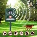 Солнечная энергия уличное использование Солнечная Ультразвуковая Собака Кошка Отпугиватель Животных Chaser батарея работает с мощными свето...