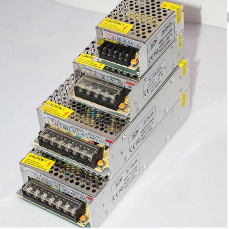 Питания со светодиодной полосой адаптер переменного тока 110 V 220 V DC/DC 12 V 24 V 1A 5A 10A 15A 20A 30A 40A 50A светодиодный Питание адаптер трансформатор