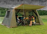 Непромокаемая двухслойная наружная Солнцезащитная 4 угла Садовая Беседка/многопользовательская кемпинговая палатка для вечеринок/тент/со