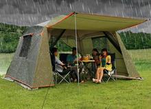 Непромокаемый двухслойный открытый солнцезащитный затенение 4 углы Садовая Беседка/Мультиплеер кемпинговая палатка для вечеринок/тент shelter/sun shelter