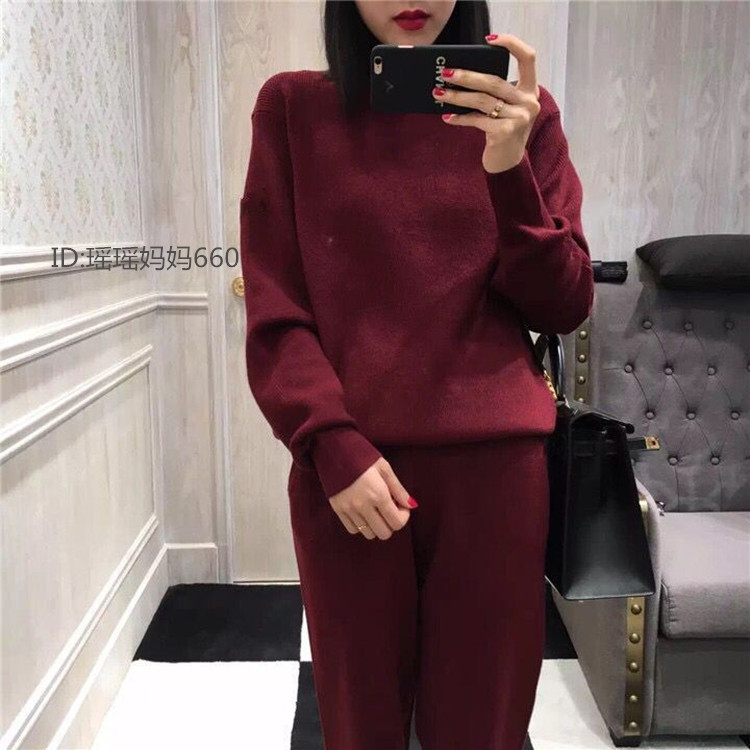 Tricot 2xl Claret Chandail Cachemire 5 S Pantalon Costumes Pcs Couleur Pur grey Manteau De Femmes Pulls ensemble Army Casual black claret Mode Épais Green Molletonnés 2 qExaACR