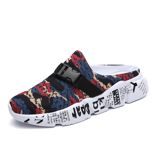 New Lightweight Soft Slippers Man Beach Sandals Summer Men's Camouflage Design Roman Outdoor Slippers Elastic Casual Shoes 1
