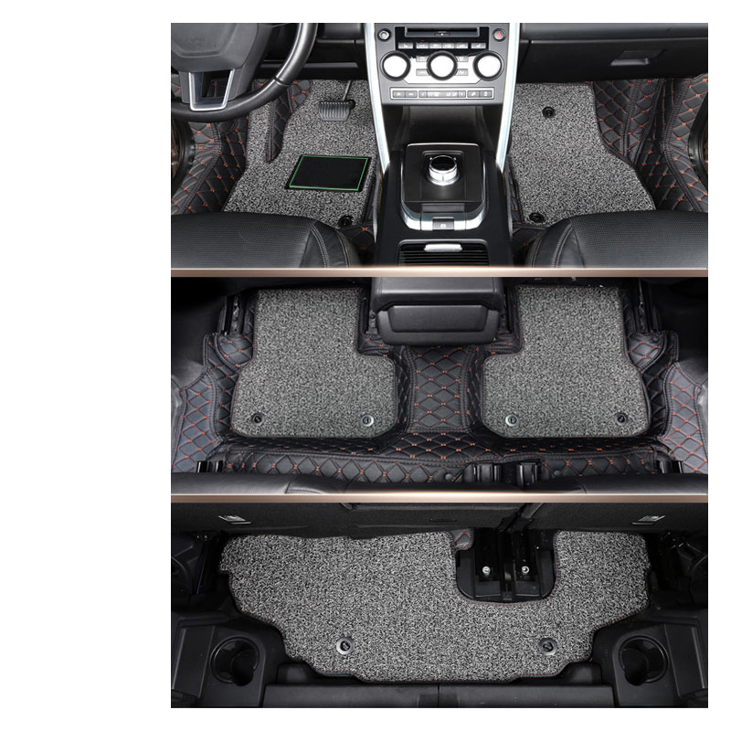 lsrtw2017 luxury fiber leather car interior floor mat anti kick mat for land rover discovery sport 2014 2015 2016 2017 2018 2019