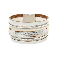 ORNAPEADIA New Hot Jewelry Bohemia bracelet VOGUE recommended style Fashion multilayer Leather Bangles for women gift wholesale