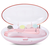 LETING 6-in-1 Newborn Baby Nail File Clippers Electric Manicure Set for Toes and Fingernails Care Trim And Polish Activity & Gear