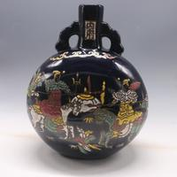 7 Antique YuanDynasty porcelain vase,Blue glaze enamel character bottle,Hand painted crafts,Collection&Adornment,Free shipping