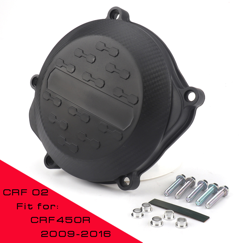 Motorcycle Clutch Cover Protection Cover Fit For HONDA CRF 450R <font><b>CRF450R</b></font> 2009 - <font><b>2016</b></font> Free shipping image