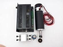 600w ER16 CNC DC Spindle Motor+Mach3 Speed Control Power Supply+Mounting Bracket Kit 100V DC 0.6NM for CNC DIY PCB
