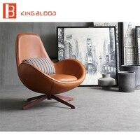Гостиная кожа стулья Nordic одного кресло