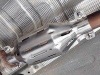 1 قطعة ل geely NL-3 (boyue) 2016-2018 ثلاثي المحول الحفاز واقية غطاء سبائك الألومنيوم/الفولاذ الصلب