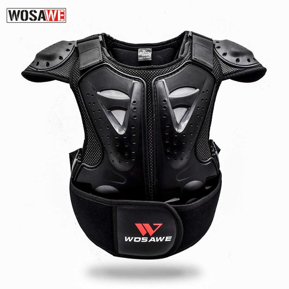 WOSAWE Kinder Dirt Bike Körper Brust Wirbelsäule Schutz Weste Zurück Unterstützung Kind Körper Rüstung Für Dirt Bike Motocross Roller Snowboarden