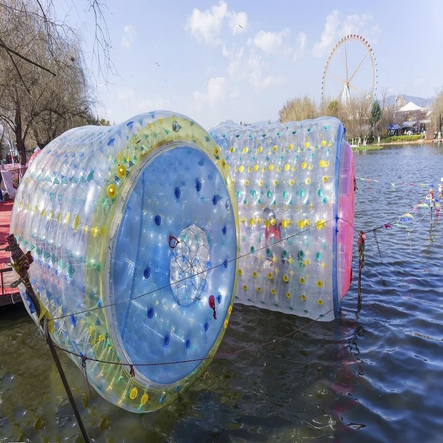 water roller ball 2*1.8*1.8 M size water toy park, lake,rviver, water roller water park summer game