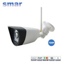 P2P ONVIF Мегапиксельная 720 P HD 802.11b/g/n Беспроводной Проводные Ip-камеры wi-fi ИК Открытый Водонепроницаемая Камера IP АБС-Пластик 30 ИК LED