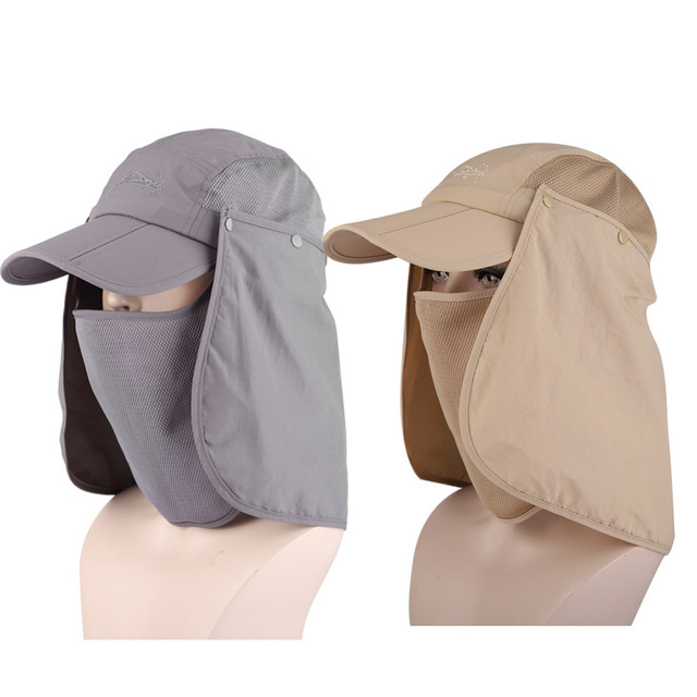 485b03bf05e79 Quick Dry Outdoor Travel Sport Jungle Bucket Hat Hiking Camping Face Mask  Neck Cover Fishing Cap UV Protection Sun Shade Cap