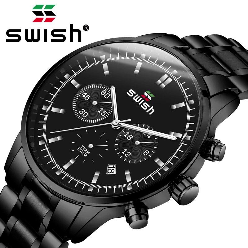 SWISH 2019 Watch Men Fashion Sport Men's Quartz Watch Clock Mens Watches Top Brand Luxury Business Waterproof Watch