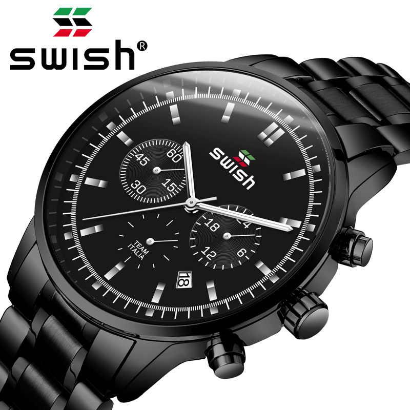 SWISH 2019 часы мужские модные спортивные мужские кварцевые часы мужские часы, наручные часы Топ бренд класса люкс деловые водонепроницаемые часы