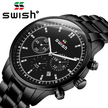 Часы SWISH 2020 мужские, модные, спортивные, кварцевые, водонепроницаемые