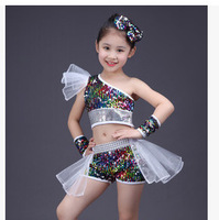 children dance suit girl jazz dance street dance performance clothing baby modern catwalk shows sequins costumes