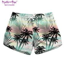 Summer Women Beach Shorts Mini Water Sport Pants Trees 3D Print Brand Gym Surfing Short Pocket Female Travel Surf Board Feminino