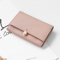 Simple Style Genuine Leather Women Coin Purse Wallet Mini Change Purses Ladies Card Bags Card Holder