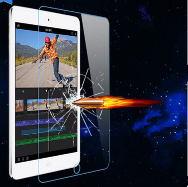 Galleria fotografica 100Pcs 9H Tempered Glass Screen Protector Film fit for iPad mini 1 2 3 + Retail Package Free Shipping