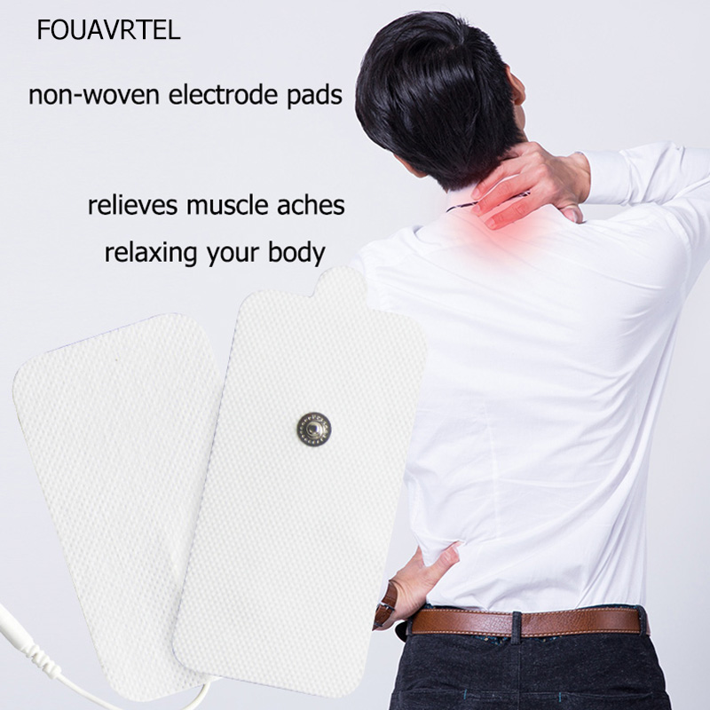 FOUAVRTEL 50Pcs White Pulse Electrode Pads  Tens Acupuncture Therapy Digital Therapy Machine to Relieve Body Ache and PainsFOUAVRTEL 50Pcs White Pulse Electrode Pads  Tens Acupuncture Therapy Digital Therapy Machine to Relieve Body Ache and Pains