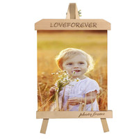 7 Inch Personality Home Decor Photo Frame Primary Colour Stand Photo Display Solid Wood Material 13x18