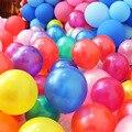100 шт./упак. 10-дюймовые латексные свадебные украшения, вечерние воздушные шары с цветным гелием, утепленные жемчужные воздушные шары, детски...