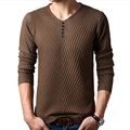 2017 Autumn on the new middle-aged men's clothes hot V-neck long-sleeved sweater loose big yards Men's Sale