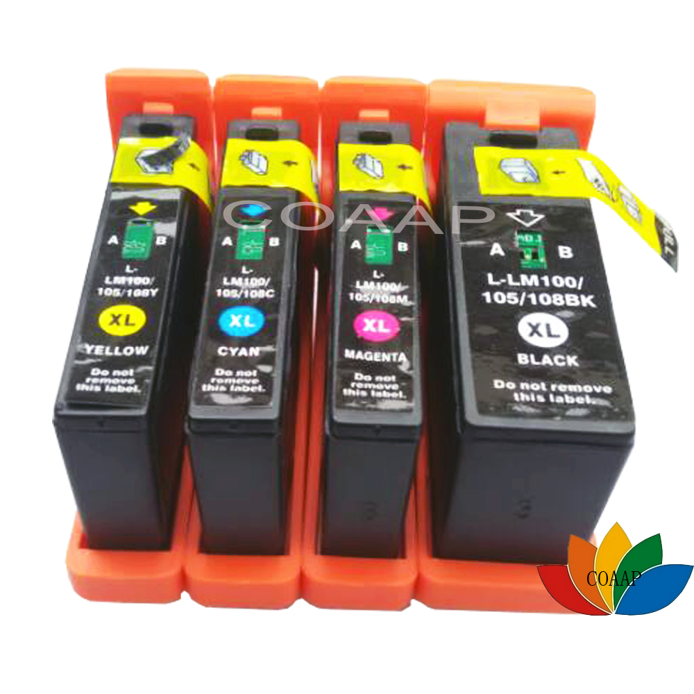 4 Compatible lexmark 100 105 108 Ink Cartridges For S305 S405 S505 S605 Pro205 Pro705 Pro805 Pro905 Printer  original print head for lexmark s205 s305 s405 s505 s605 s208 s308 s408 s508 s608 pro205 pro705 pro805 pro901 pro905 printhead