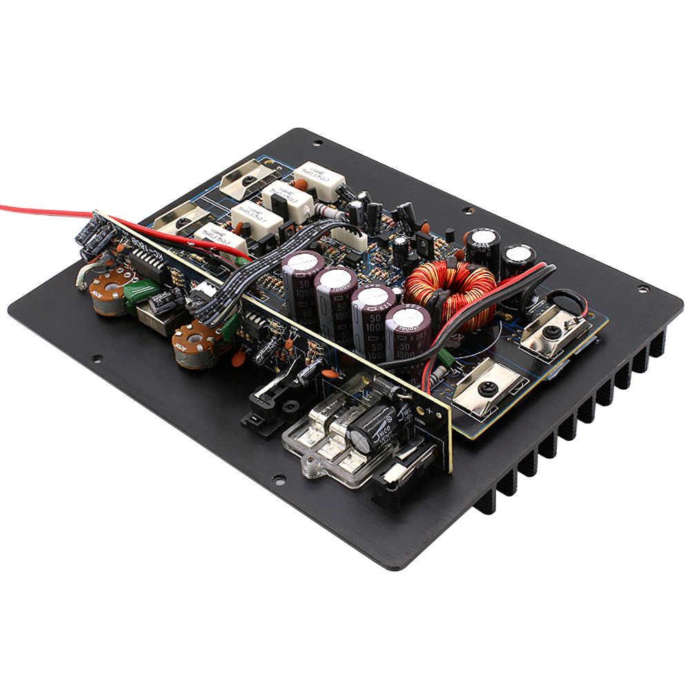AOSHIKE 12 В 1000 Вт Мощный Бас Сабвуфер автомобильный аудио усилитель высокой мощности усилитель плата тепловой перегрузки Защита мощности