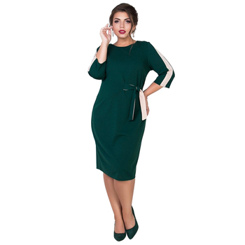 2019 verano elegante Oficina Vestido Mujer Plus tamaño vestido Midi vestido de fiesta negro vestido Bodycon vendaje 5XL 6XL Robe Femme