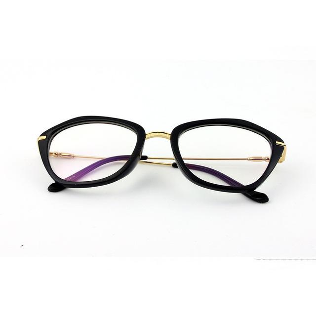 Moda Óculos Cat Eye Glasses Moda Mulheres Vidros Ópticos Quadros
