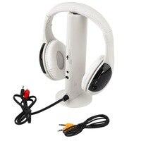 Hot Multifunzione 5 in 1 Hi-fi Cuffia Senza Fili Auricolare Wireless Monitor FM Radio MP3 PC Telefonia TV Audio