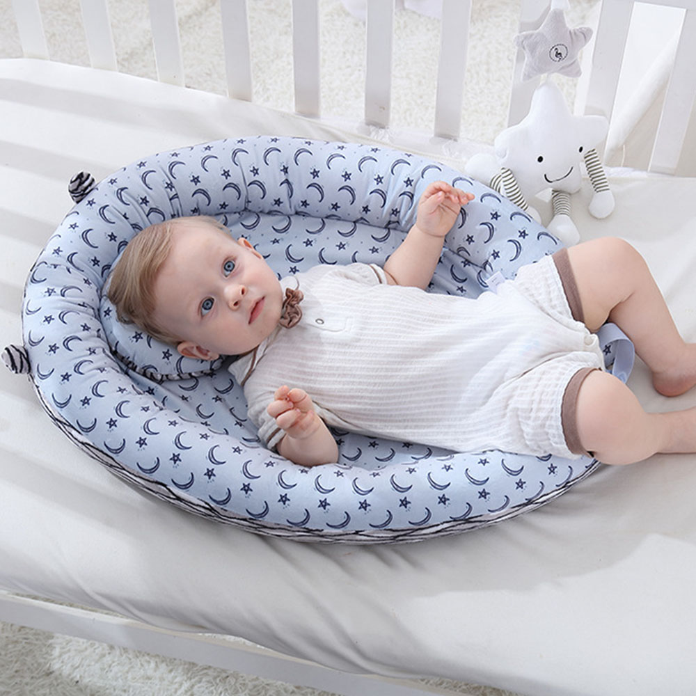 Portable Baby Bed Crib Foldable Bassinet Lounger Breathable Hypoallergenic Sleeping Bed Cotton Portable Crib For Bedroom Travel