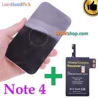 LuisHandPick Set High Quality Wireless Charger And Wireless Charger Receiver For Samsung Galaxy Note 4 N9100