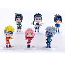 6pcs/Set Hot New Naruto Figure Set Figurine PVC Toy Action Figure 7cm Classic Toys