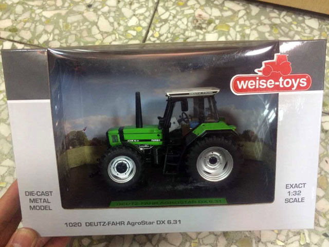 NEW Weise-toys 1/32 Scale Die-Cast Metal Model 1020 DEUTZ-FAHR AgroStar DX 6.31 lowell low12204