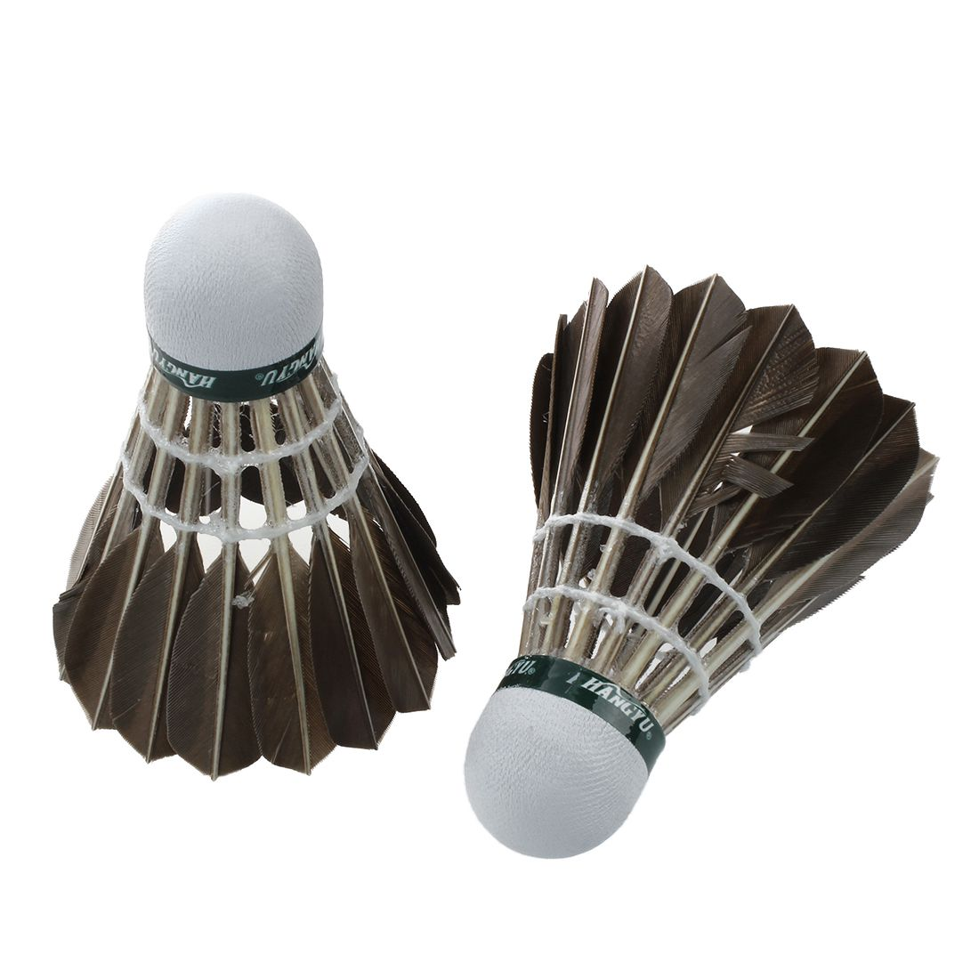 12pcs Training Goose Feather Shuttlecocks Badminton Balls Game Sport