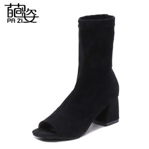 e756732da High Heels Ankle Boots Black Casual Flat Boots For Ladies