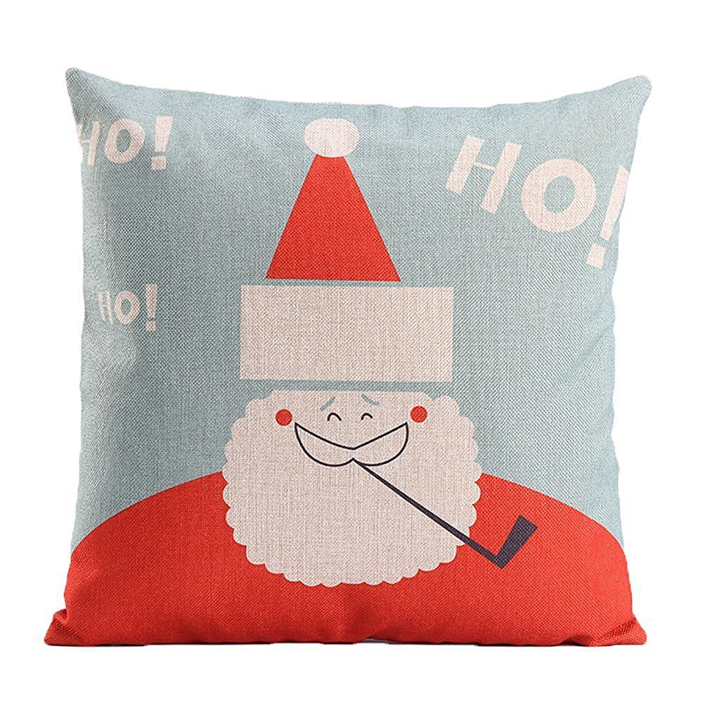 Image 2 - Merry Christmas Pillow Cover Santa snowman Cotton Linen Sofa Modern Cozy Throw Cushion Cover Home Bed Car Decoration-in Cushion Cover from Home & Garden