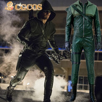 Express Anime Cosplay Costume Green Arrow Season 3 Oliver Queen Uniform Anime Halloween Christmas Party