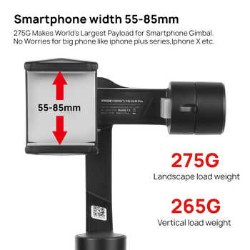 Freevision Vilta-m Pro 3-axis Handheld Gimbal Smartphone Stabilizer for iPhone Samsung GoPro 7 6 PK Vilta m Smooth 4 OSMO 2