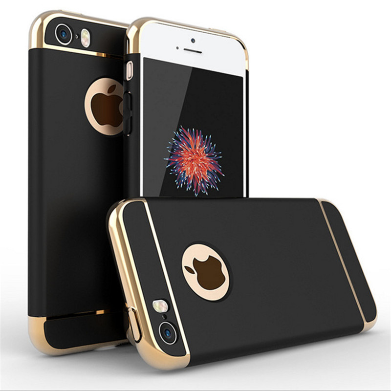Luxury 3 in1 Combo Slim Hard Armour Case for Apple iphone 5 5S SE 360 Ամբողջ մարմնի պաշտպանության համար Shockproof Matte Back Cover Cover Logo