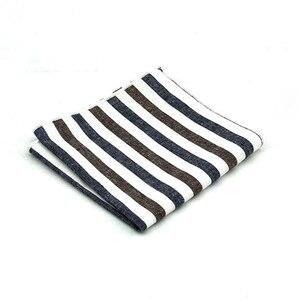 Image 3 - HUISHIคุณภาพสูงลายผ้าฝ้ายสแควร์สำหรับผู้ชายชุดผ้าฝ้ายผ้าเช็ดหน้าธุรกิจHankyสีทึบผ้าเช็ดหน้า